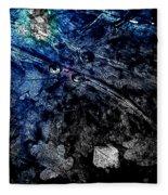 Leaves Under Ice Fleece Blanket