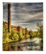 Ashton Mill, Cumberland, Ri Fleece Blanket