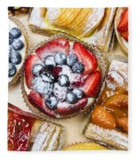 Assorted Tarts And Pastries Fleece Blanket