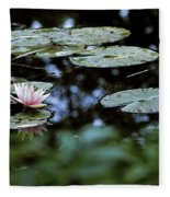At Claude Monet's Water Garden 6 Fleece Blanket