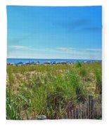 At The Beach Fleece Blanket