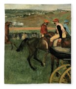 At The Races Fleece Blanket