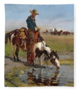 At The Watering Hole Fleece Blanket