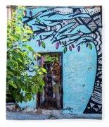 Athens Graffiti Fleece Blanket