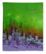 Atlanta Skyline 4 Fleece Blanket