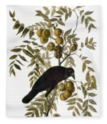 Audubon: Crow Fleece Blanket