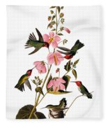 Audubon: Hummingbird Fleece Blanket