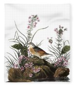 Audubon: Sparrow, (1827-38) Fleece Blanket