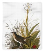 Audubon: Thrush Fleece Blanket