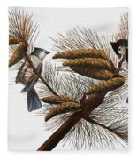 Audubon: Titmouse Fleece Blanket