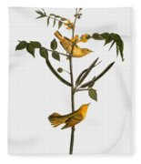 Audubon: Warbler, 1827-38 Fleece Blanket