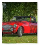 Austin Healey 100 Fleece Blanket