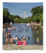 Austinites Love To Lounge In The Refreshing Waters Of Barton Springs Pool To Beat The Sizzling Texas Summer Heat Fleece Blanket