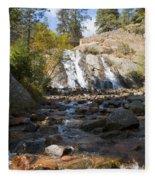 Autumn At Helen Hunt Falls Colorado Fleece Blanket