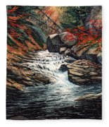 Autumn Brook Fleece Blanket