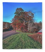 Autumn Countryside - North Carolina Fleece Blanket
