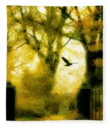 Autumn Graveyard Fleece Blanket