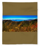Autumn In The Smokies Fleece Blanket