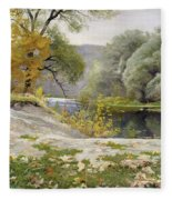 Autumn Landscape In The Vicinity Of Eshar Fleece Blanket