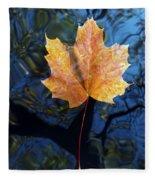 Autumn Leaf On The Water Fleece Blanket