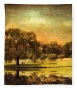 Autumns Golden Mirror Fleece Blanket