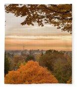 Autumn On The Hill Fleece Blanket
