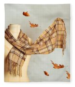 Autumn Scarf Fleece Blanket
