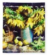 Autumn Sunflowers Fleece Blanket