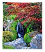 Autumn Waterfall - Digital Art 5x3 Fleece Blanket