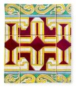Azulejo - Geometrical Decoration  3 Fleece Blanket