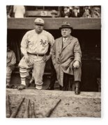 Babe Ruth And John Mcgraw Fleece Blanket