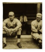 Babe Ruth On Far Left With The Boston Red Sox 1915 Fleece Blanket