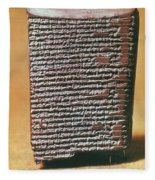 Babylonian Clay Tablet Fleece Blanket