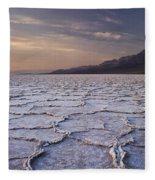 Badwater Salt Flats 1 Fleece Blanket