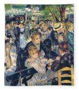 Ball At The Moulin De La Galette Fleece Blanket
