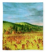 Ball-play Of The Choctaw--ball Up Fleece Blanket