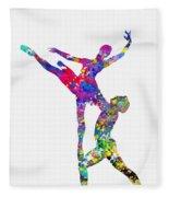 Ballet Dancer-colorful Fleece Blanket
