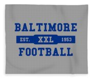 Baltimore Colts Retro Shirt Fleece Blanket