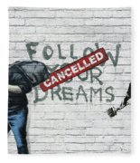 Banksy - The Tribute - Follow Your Dreams - Steve Jobs Fleece Blanket