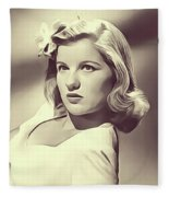Barbara Bel Geddes, Vintage Actress Fleece Blanket
