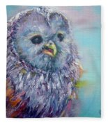 Barn Owl Fleece Blanket