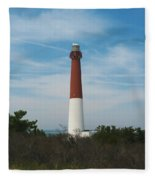 Barnegat Lighthouse - New Jersey Fleece Blanket