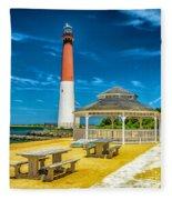 Barnegat Lighthouse Park Fleece Blanket