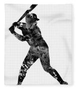 Baseball Player Fleece Blanket
