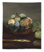 Basket Of Fruit Fleece Blanket