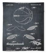 Basketball Patent 1916 Black Fleece Blanket
