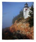 Bass Harbor Lighthouse, Acadia National Park Fleece Blanket