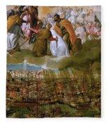 Battle Of Lepanto Fleece Blanket