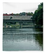 Bavarian Covered Bridge Fleece Blanket