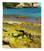 Beach At Dominican Republic Fleece Blanket